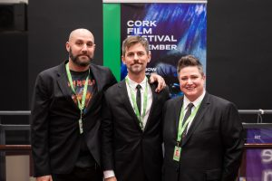 Amon Lourie, Coproducer, Nathaniel Dushku, Producer and Crissy Brookshire, Coproducer of 'Mapplethorpe - DAY 2 of 63 Cork Film Festival 2018